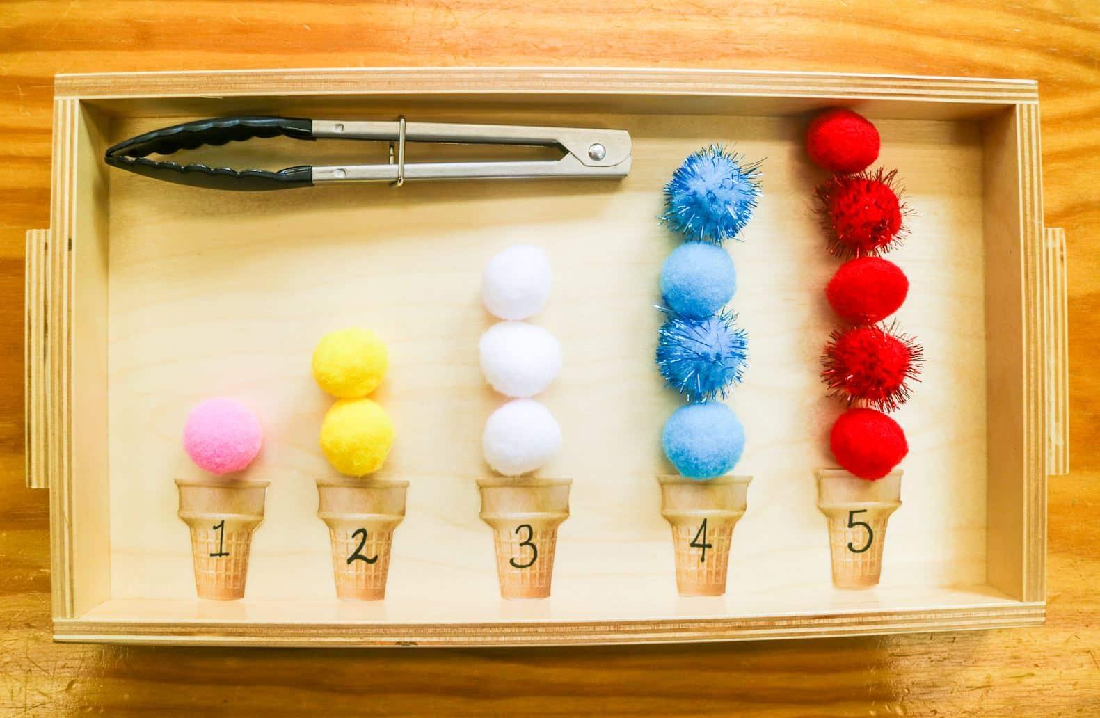 Summer Mathematics Ice Cream Tray